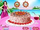 Barbie Coconut Cake Deco